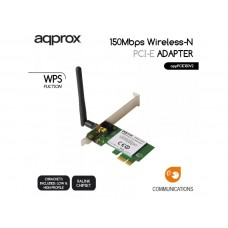 APPROX WIRELESS ADAPTER PCI-E 150Mps LOW