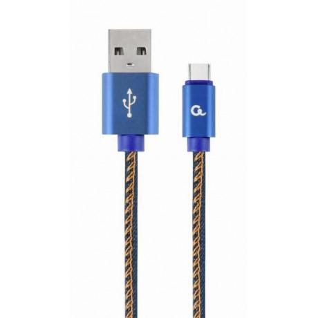 ΚΑΛΩΔΙΟ ΕΠΕΝΔΥΣΗ JEANS USB 2.0 to Type-C 1 m