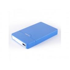 """APPROX ΘΗΚΗ ΓΙΑ 2,5"""" HDD USB 2.0 ΜΠΛΕ"""