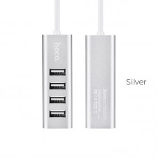 HOCO USB HUB 2.0, 4 PORT, ΚΑΙ ΦΟΡΤΙΣΗ, HB1, ΑΣΗΜΙ