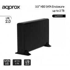 """APPROX ΘΗΚΗ ΓΙΑ 3,5"""" HDD USB 2.0 ΜΑΥΡΟ"""