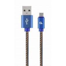ΚΑΛΩΔΙΟ ΕΠΕΝΔΥΣΗ JEANS USB MICRO-USB 1M