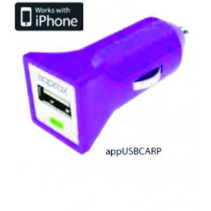 APPROX ΦΟΡΤΙΣΤΗΣ ΑΥΤΟΚΙΝΗΤΟΥ USB  5VDC/1A ΜΩΒ