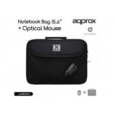 """ΤΣΑΝΤΑ LAPTOP APPROX 15,6"""" + USB OPTICAL ΠΟΝΤΙΚΙ"""