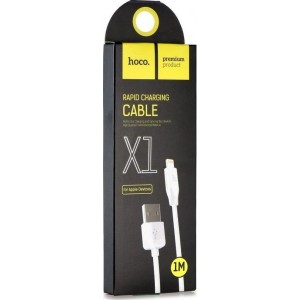 HOCO X1 ΚΑΛΩΔΙΟ LIGHTNING USB 1m, ΛΕΥΚΟ