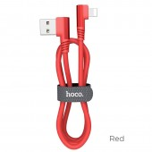 HOCO U83 PUISSANT SILICONE CHARGING CABLE FOR LIGHTNING, ΚΟΚΚΙΝΟ