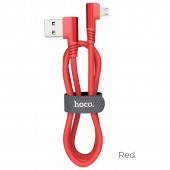 HOCO U83 PUISSANT SILICONE CHARGING CABLE FOR MICRO, ΚΟΚΚΙΝΟ
