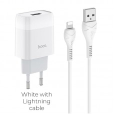 HOCO C72A GLORIOUS SINGLE PORT CHARGER SET(LIGHTNING)(EU)