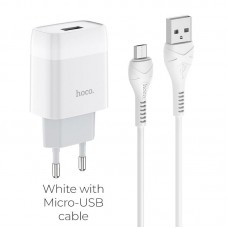 HOCO C72A GLORIOUS SINGLE PORT CHARGER SET(MICRO)(EU)