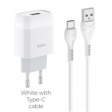 HOCO C72A GLORIOUS SINGLE PORT CHARGER SET(TYPE-C)(EU)