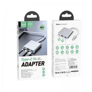 HOCO HB14 TYPE-C HUB EASY USE ΜΕ USB3.0+HDMI+PD