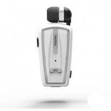 REMAX RB-T12 COLLAR CLIP VOICE PROMPT TELESCOPIC BLUETOOTH EARPHONE ΛΕΥΚΟ