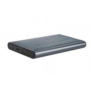 "GEMBIRD ΘΗΚΗ ΓΙΑ 2,5"" SLIM HDD TYPE C - USB 3.1, BRUSHED ALUMINUM"