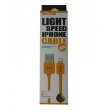 ΚΑΛΩΔΙΟ GFUN USB ΣΕ DATA/LIGHTING IPHONE COMPATIBLE YELLOW