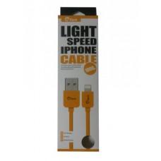 ΚΑΛΩΔΙΟ GFUN USB ΣΕ DATA/LIGHTNING IPHONE COMPATIBLE YELLOW