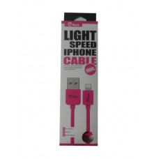 ΚΑΛΩΔΙΟ GFUN USB ΣΕ DATA/LIGHTING IPHONE COMPATIBLE PINK