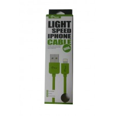 ΚΑΛΩΔΙΟ GFUN USB ΣΕ DATA/LIGHTING IPHONE COMPATIBLE GREEN