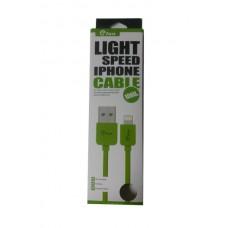 ΚΑΛΩΔΙΟ GFUN USB ΣΕ DATA/LIGHTNING IPHONE COMPATIBLE GREEN