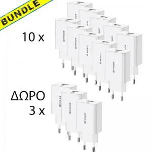 BUNDLE 10 x NG WOOT WT21 QC3.0 18W  + 3 ΔΩΡΟ