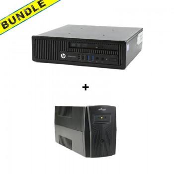 BUNDLE HP 800 G1 USDT, i5 4570S/4GB/250HDD + GEMBIRD UPS 650W