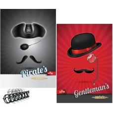 ΤΕΤΡΑΔΙΟ 2πλο ΣΠ. ΧΑΡΤΙΝΟ ΕΞΩΦ. A4 2Θ 60σελ.70 gr  Gentleman's