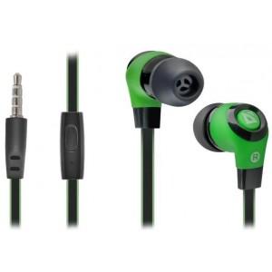 DEFENDER EARPHONES PULSE 430 BLACK & GREEN