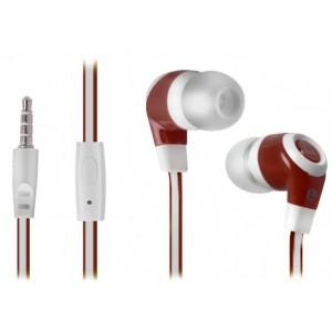 DEFENDER EARPHONES PULSE 430 WHITE & RED
