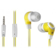 DEFENDER EARPHONES PULSE 430 WHITE & YELLOW