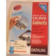 DATALINE PHOTO GLOSSY ΕΤΙΚΕΤΑ full face CD-DVD