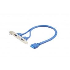 GEMBIRD DUAL USB 3.0 RECEPTACLE ON BRACKET
