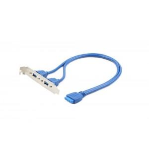 CABLEXPERT DUAL USB 3.0 RECEPTACLE ON BRACKET