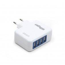 ENERGENIE ΦΟΡΤΙΣΤΗΣ ΤΑΞΙΔΙΟΥ USB 3.1A ΛΕΥΚΟ 4 ΘΕΣΕΩΝ