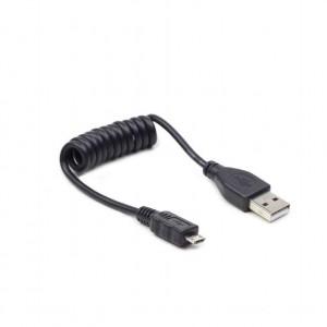 CABLEXPERT ΚΑΛΩΔΙΟ MICRO USB SPIRAL , 0.6m