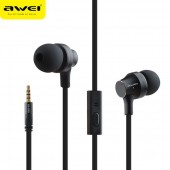 AWEI ES910I STEREO EARPHONES SUPER BASS HEADSET ΜΑΥΡΑ