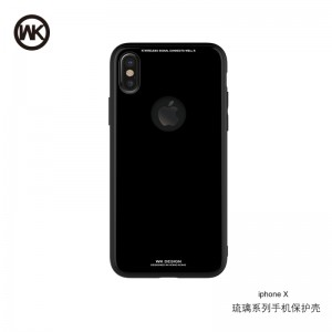 WK AZURE STONE ΘΗΚΗ iPHONE X BLACK