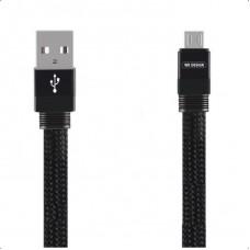 WK MAYAR MICRO USB ΚΑΛΩΔΙΟ ΦΟΡΤΙΣΗΣ & DATA 1m, BLACK
