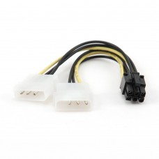 ΚΑΛΩΔΙΟ ΜΕΤΑΤΡΟΠΗΣ PCI EXPRESS, 6 pin TO MOLEX x2 PCS