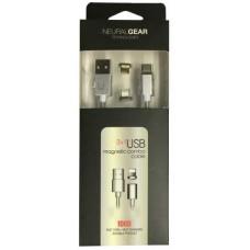 NG ΜΑΓΝΗΤΙΚΟ ΚΑΛΩΔΙΟ DATA+CHARGE 3 ΣΕ 1, MICRO USB+LIGHTNING+TYPE-C