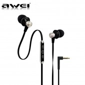 AWEI ES-950VI EARPHONE HEADSET WITH MIC ΜΑΥΡΟ