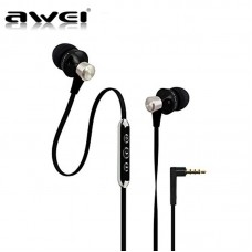 AWEI ES-950VI EARPHONE HEADSET WITH MIC ΜΑΥΡΟ