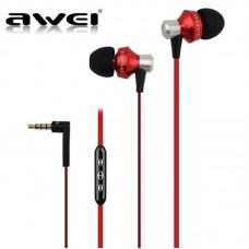 AWEI ES-950VI EARPHONE HEADSET WITH MIC ΚΟΚΚΙΝΟ