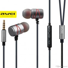 AWEI ES-910TY METALLIC NOISE ISOLATION IN-EAR WITH MIC ΜΑΥΡΟ