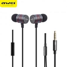 AWEI STEELSERIES Q5I METAL STEREO EARPHONE SUPER BASS ΓΚΡΙ