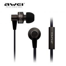 AWEI ES-900I WIRED IN-EAR EARPHONES WITH MIC ΜΑΥΡΟ