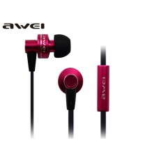 AWEI ES-900I WIRED IN-EAR EARPHONES WITH MIC ΡΟΖ