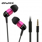 AWEI Q8I CAPSULE WIRED IN-EAR HEADPHONES ΡΟΖ