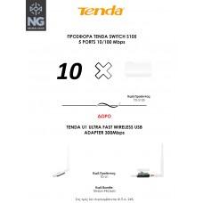 ΠΡΟΣΦΟΡΑ TENDA SWITCH S105 5 PORTS 10/100 Mbps