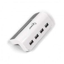GEMBIRD USB HUB 2.0, 4 PORT, ΜΕ ΡΟΛΟΙ, ΛΕΥΚΟ