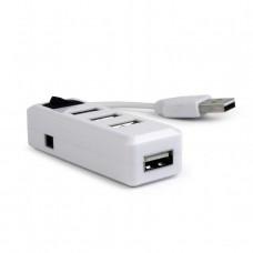 GEMBIRD HUB USB 2.0, 4 PORT ΜΕ ΔΙΑΚΟΠΤΗ, ΛΕΥΚΟ