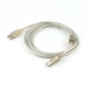 CABLEXPERT ΚΑΛΩΔΙΟ USB 2.0 A-PLUG ΣΕ B-PLUG TRANSPARENT 0.75m